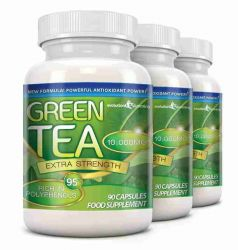 Green Tea Extra Strength 10,000mg with 95% Polyphenols - 270 Capsules (3 Months)