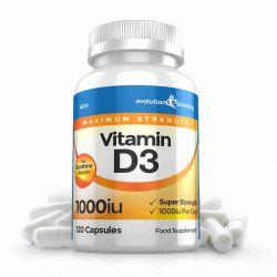 Vitamin D D3 1,000 IU Capsules - 360 Capsules